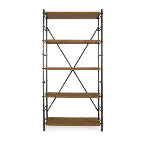 etagere metal etag 232 re industrielle m 233 tal et bois ironwood par drawer fr