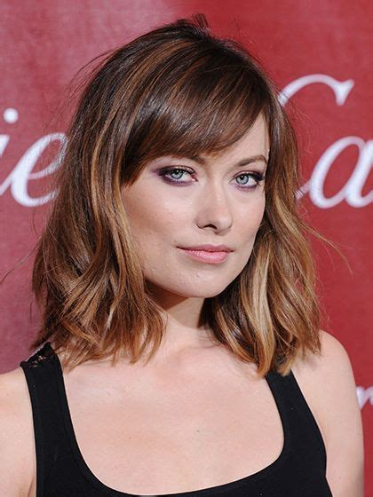 long bob with razored ends and side swept bangs medium 1000 ideas about bob haircut bangs on pinterest razored