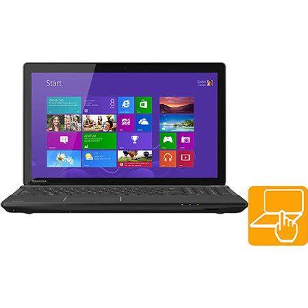 toshiba satin black 15 6 quot touchscreen c55t a5222 laptop pc with intel celeron 1005m processor