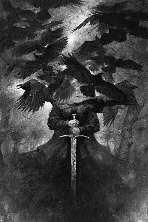 Pin de Arcanus em Gothic Art | Anjos, Corvo, Anjos da noite