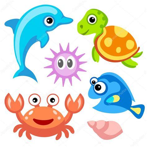imagenes animales marinos animados mundo del agua delfines tortuga cangrejo peces y