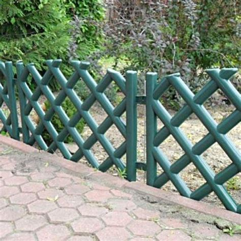 Plastic Garden Fencing Green 3 5 M Plastic Garden Picket Fence 4 Colours