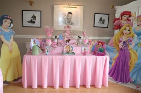 table at a disney princess things for
