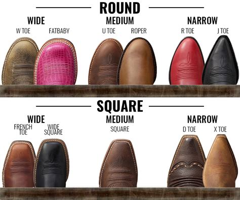 boot styles for 6 elements of the western style caracol