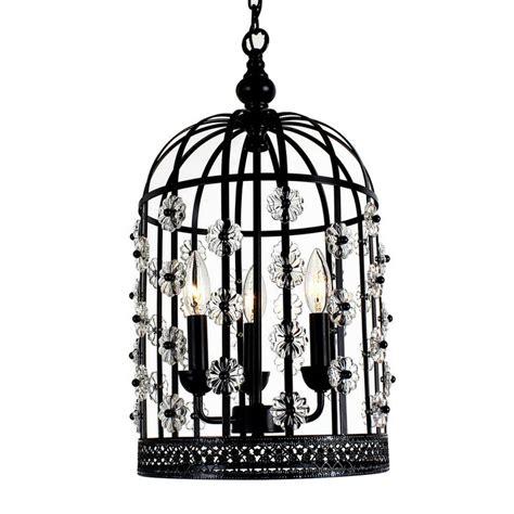 Bird Cage Chandelier Chic Bird Cage Lantern 3 Light Chandelier