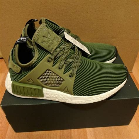adidas shoes  nmd primeknit xr olive green size
