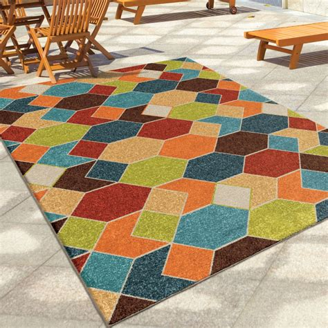 Large Outdoor Rugs Orian Rugs Indoor Outdoor Diamonds Struck Multi Area Large Rug 2363 8x11 Orian Rugs