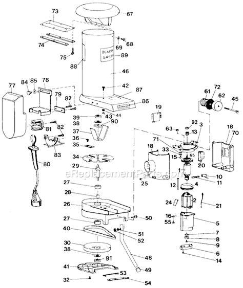 black decker ga 100 black and decker g 8501 parts list and diagram type 2