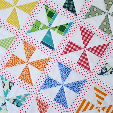 Patchwork Parade - pinwheels on parade quilt pattern pdf file pepper
