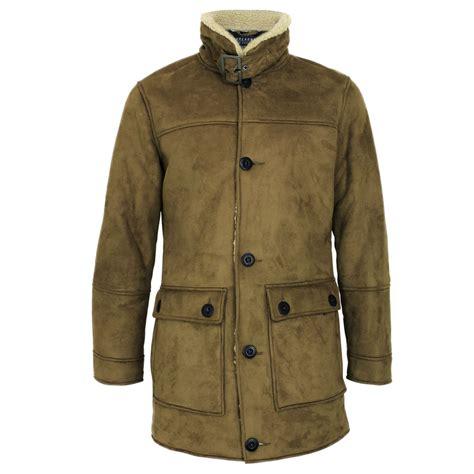 Fleece Coat mens threadbare sherpa faux sheep wool borg fleece lined