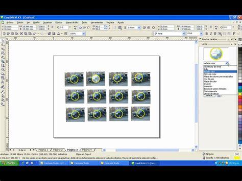tutorial desain grafis corel draw x3 tutorial para efecto lente en coreldraw x3 youtube