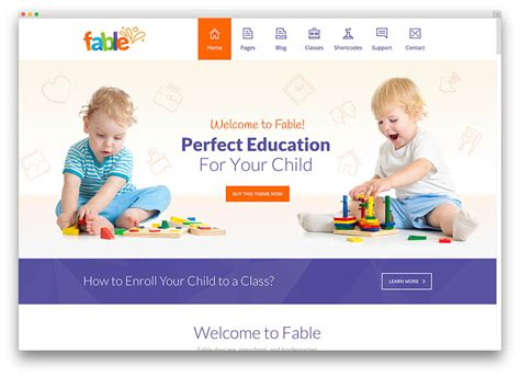 education themes for preschool 30 awesome responsive education wordpress themes for