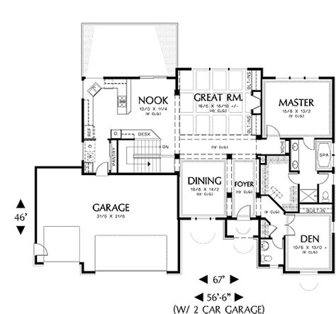 arlington house floor plan european one story house plan