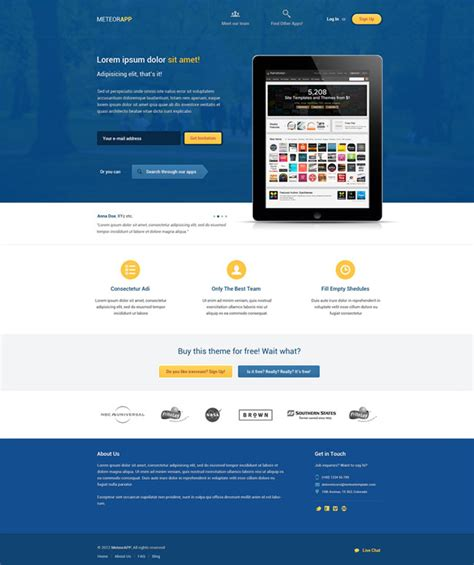landing page template free 40 best free landing page psd templates designmaz