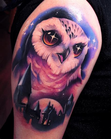 hedwig tattoo hedwig owl by steven compton
