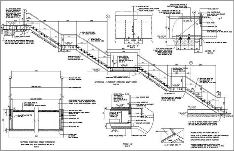 sectional drawing pdf staircase drawing plan www pixshark com images