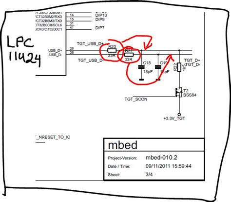 termination resistor usb wrong usb line termination in official lpc11u24 mbed schematic tgt d d lines mbed