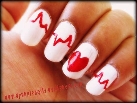 easy nail art heart cute and easy nail art nail art designs nail art