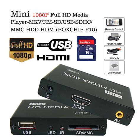Player Usb Mobil voxlink mini penuh hd 1080 p sd card usb media player