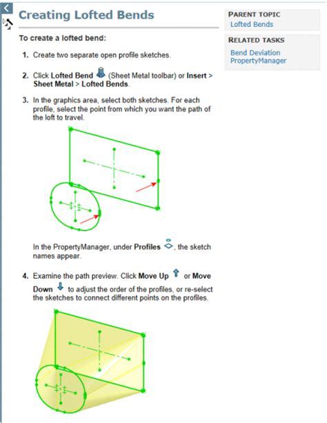 lofted sheet metal solidworks how to create solidworks lofted bends