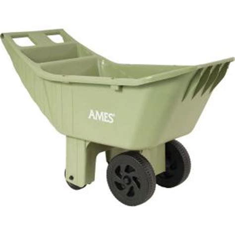 Ames Garden Cart Home Depot by Ames 4 Cu Ft Poly Lawn Cart 2463975 The Home Depot