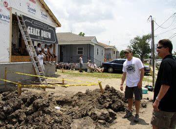 drew brees house krach brees team up to rebuild houses in new orleans