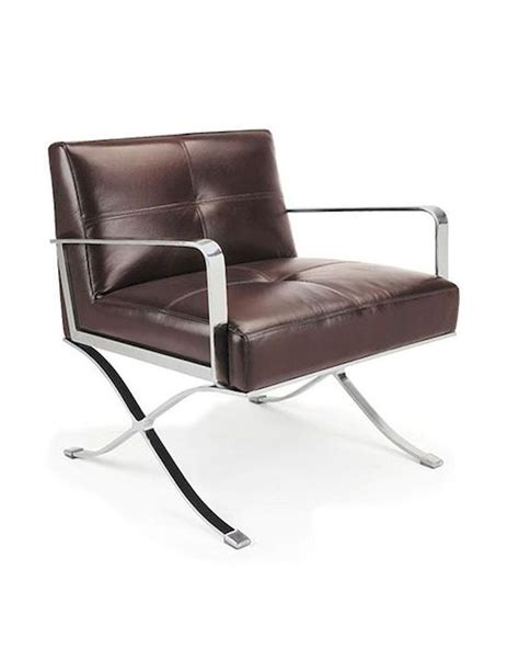 Brown Leather Lounge Chair by Modern Brown Leather Lounge Chair 44lg011