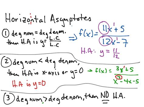 how to find how do you find the horizontal asymptote of a rational
