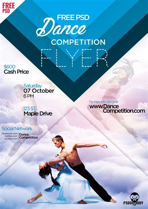 competition flyer template free competition flyer psd psddaddy