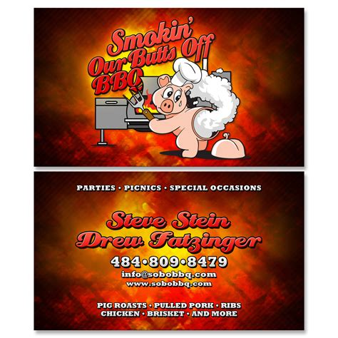 bbq catering business cards choice image card design and
