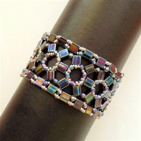 tila bead patterns beadwoven treasure lacy tila bracelet jewelrylessons