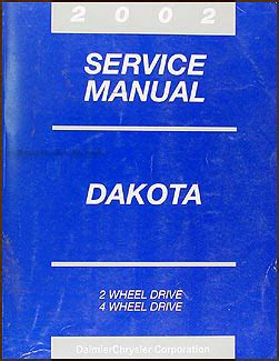 1993 dodge dakota repair shop manual original 2002 dodge dakota repair shop manual original