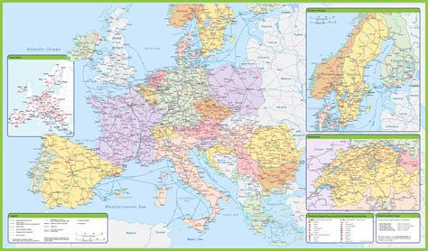 map of europe in detail maps update 1412997 detailed travel map of europe