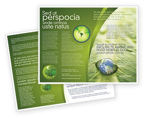 water drop brochure template design and layout download