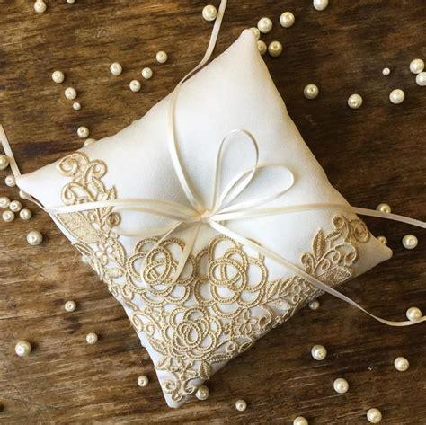 Handmade Ring Bearer Pillow - handmade vintage style ring bearer pillow with antique