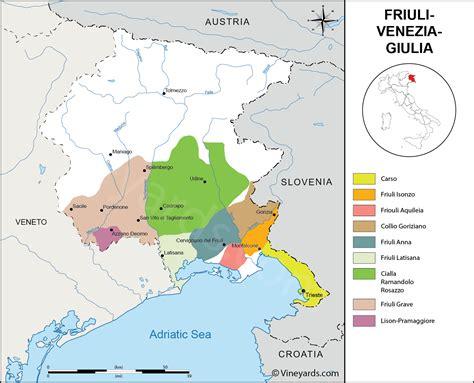 friuli venezia giulia italy map of vineyards wine regions