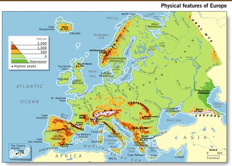 physical map europe mi primer a 241 o en xxi europe physical features unit