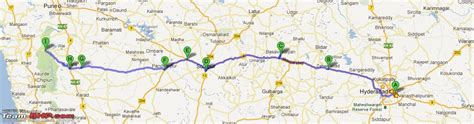 road map from mapusa to pandharpur team bhp hyderabad mahabaleshwar hyderabad trip