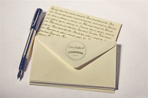 Pen Paper Kiky Envelope yellow paper envelope pen mockup mockup store