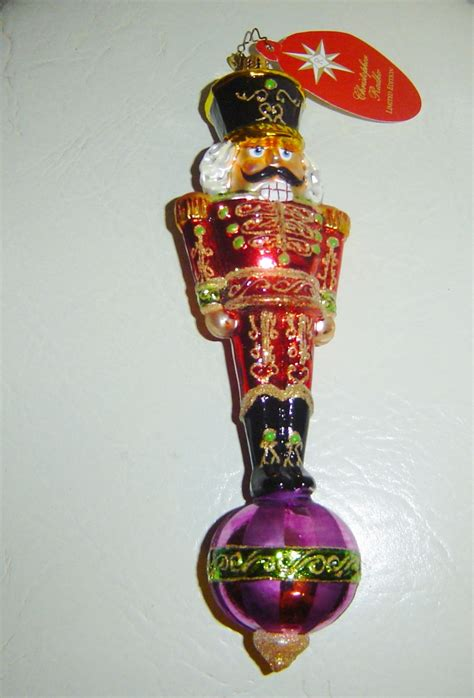 radko alizarin attention nutcracker ornament limited