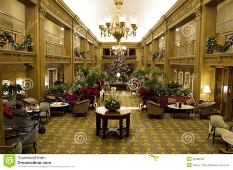 christmas decor seattle beautiful trees in a luxury hotel editorial stock photo image of tradition lobby