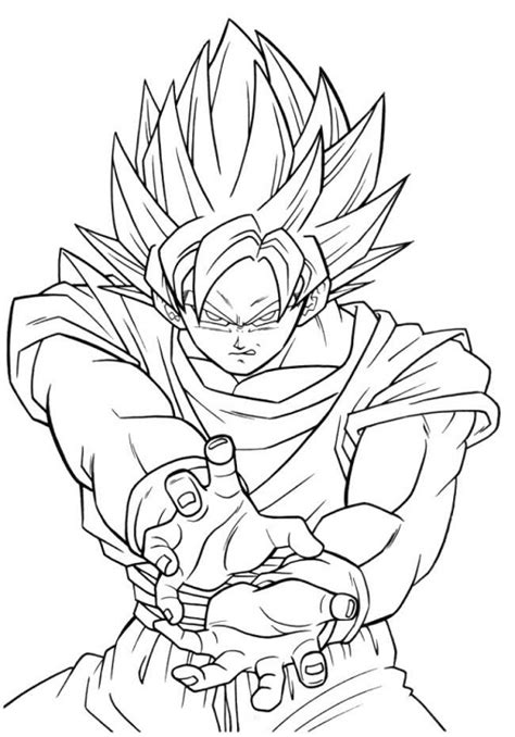 imagenes blanco y negro dragon ball z dibujos de goku fase 5 para colorear fotos de dragon ball