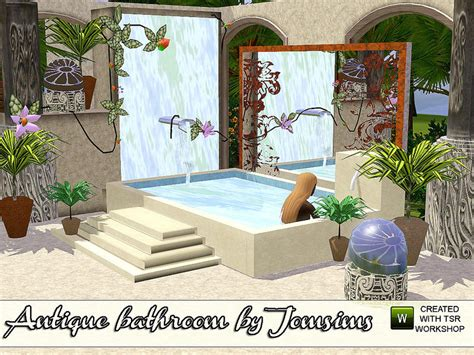 sims 3 bathtub jomsims antique bathroom revision