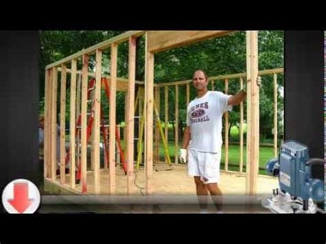 build  small storage shed youtube