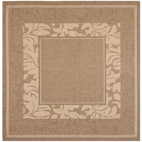 7 X 7 Square Area Rugs safavieh courtyard brown 7 ft x 7 ft indoor
