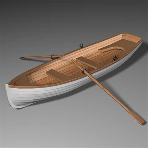 row boat model 3ds max whitehall row boat