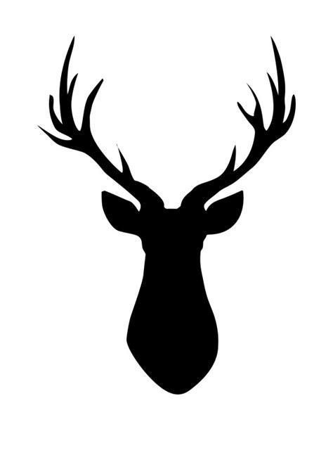 large printable reindeer head deer head pallet