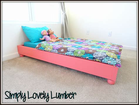 Toddler Platform Bed White Platform Toddler Bed Diy Projects