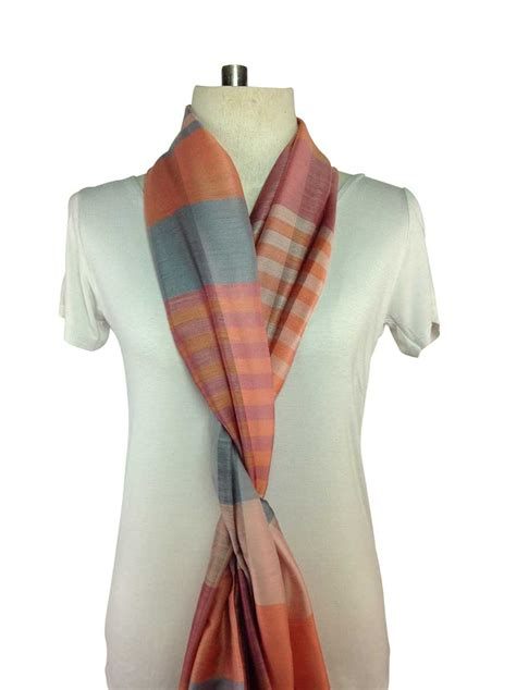 orange plaid scarves special order direct from