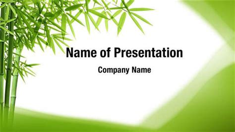 Green Bamboo Plant Powerpoint Templates Green Bamboo Plant Powerpoint Backgrounds Templates Plant Powerpoint Templates Free